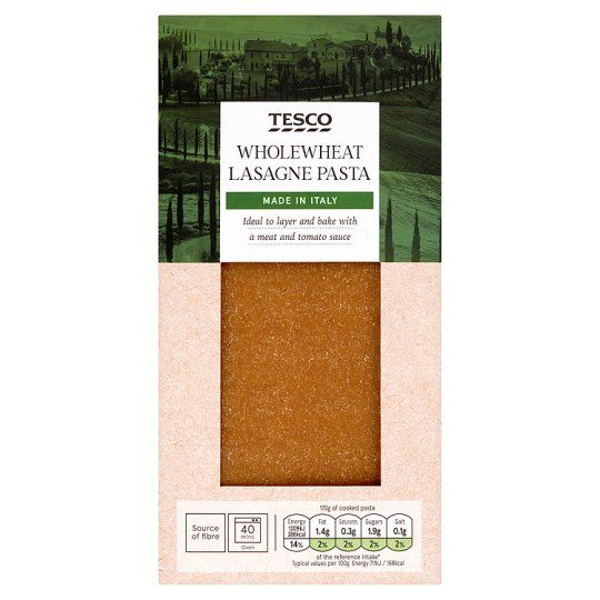 Tesco Lasagne Whole Wheat Pasta 500g