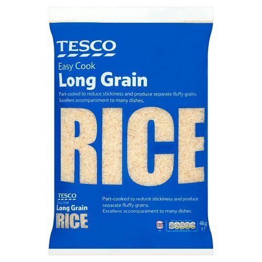 Tesco Easy Cook Long Grain Rice 4kg