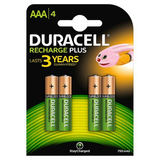 Duracell Recharge Plus AAA 4 Pack