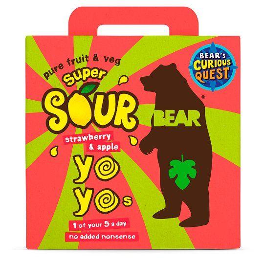 Bear Yoyo Sours Strawberry & Apple 5X20g