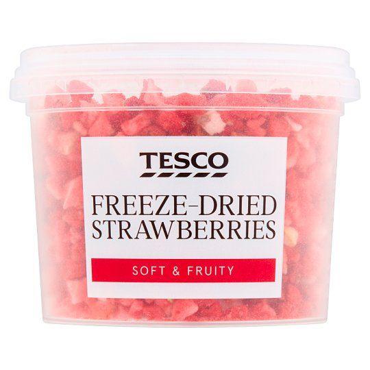 Tesco Freeze Dried Strawberry Pieces 7g