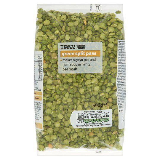Tesco Wholefoods Green Split Peas 500g