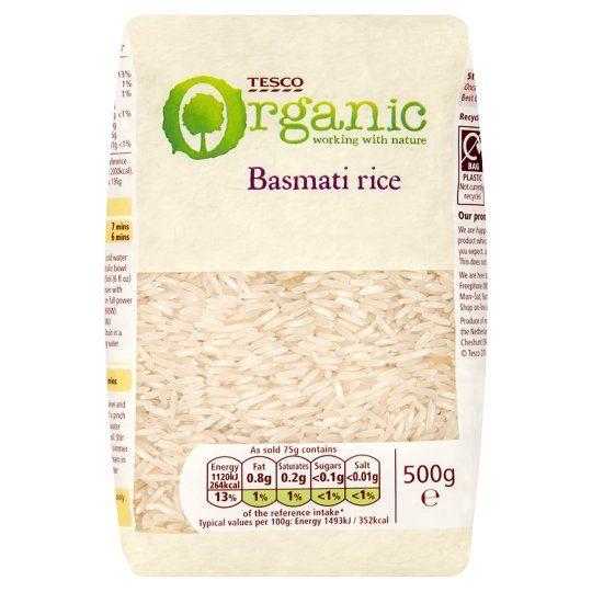 Tesco Organic Basmati Rice 500g