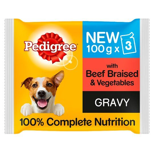Pedigree Pouches Beef Vegetable In Gravy Dog Food 3X100g