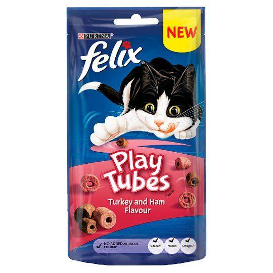 Felix Play Tubes Cat Treats Turkey&Ham 50g