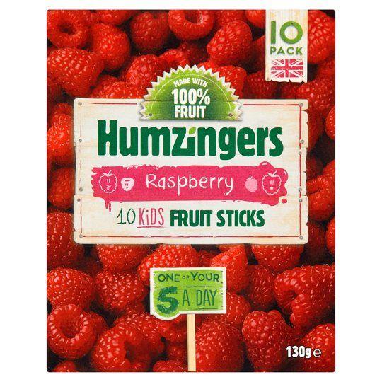 Humzinger Raspberry Fruit Sticks 130g