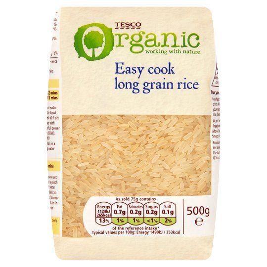 Tesco Organic Easy Cook Long Grain Rice 500g