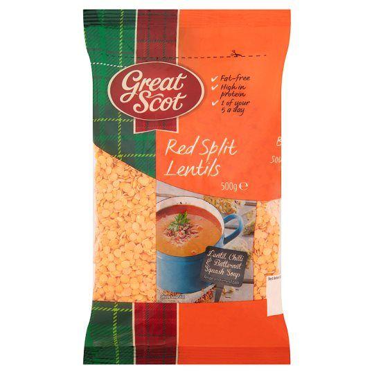 Great Scot Red Split Lentils 500g