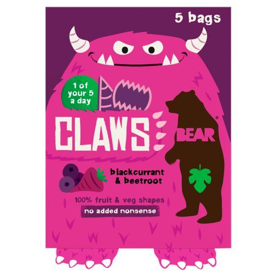 Bear Claws Blackcurrant Beetroot 5X18g
