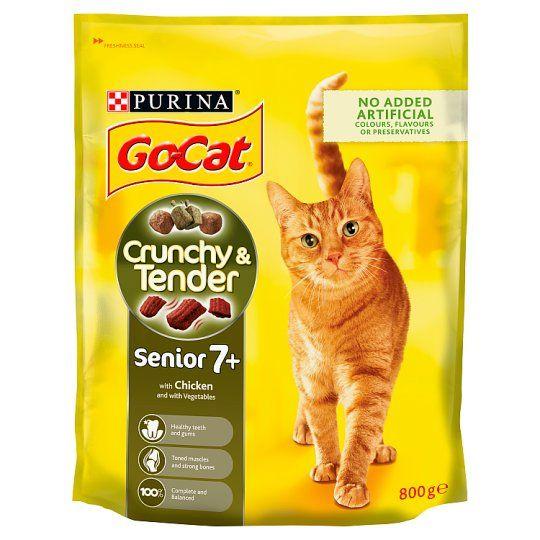 Go-Cat Crunchy & Tender Senior Chicken Cat Food 800g