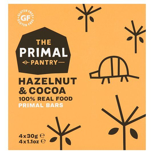 Primal Pantry Hazelnut and Cocoa Bars 4X30g
