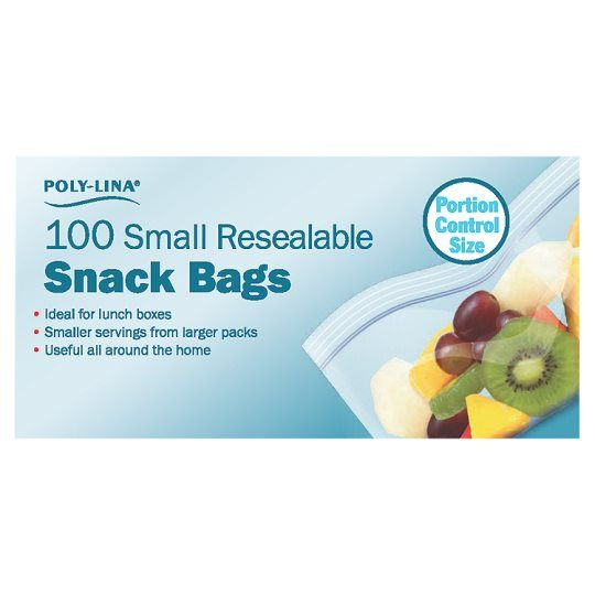 Polylina 100 Re-Sealable Snack Bags