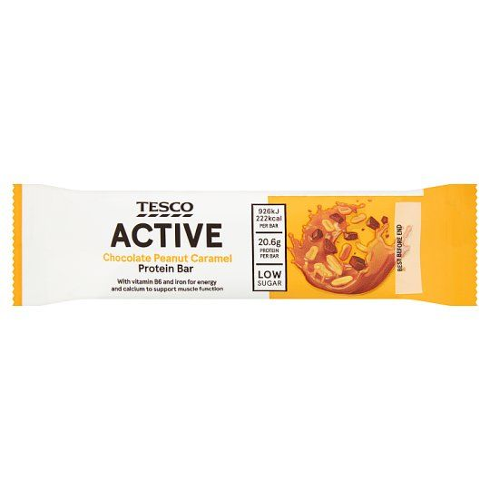 Tesco Active Chocolate Peanut Caramel Protein Bar 60g