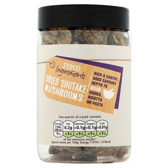 Tesco Dried Shiitake Mushrooms 40g