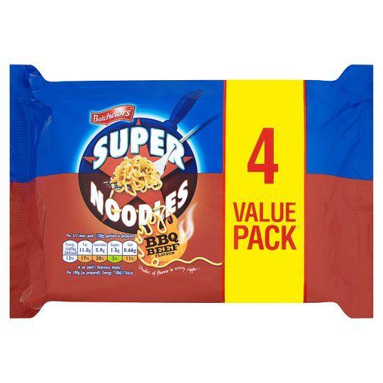 Batchelors Super Noodles BBQ Beef 4 X 100g