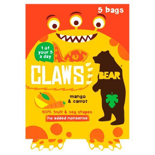 Bear Claws Mango Carrot 5X18g