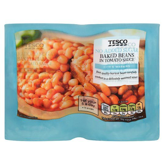 Tesco Baked Beans No Added Sugar 4 X 420g