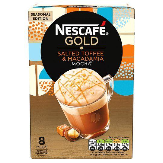 Nescafe Gold Salted Toffee Macadamia Mocha 156g
