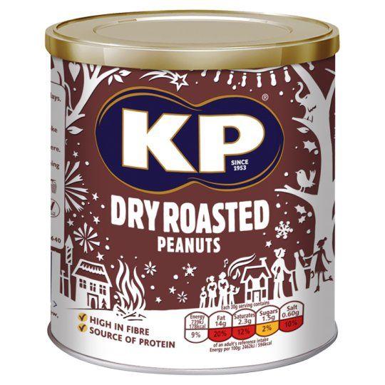 Kp Nuts Dry Roasted Peanuts 375g