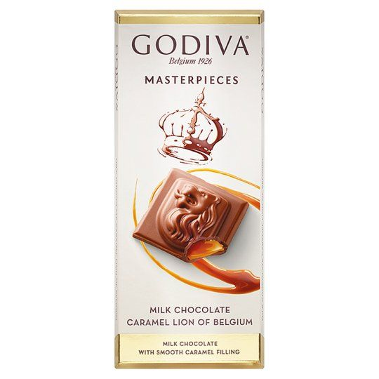 Godiva Belgium Milk Chocolate Bar With Caramel 83g