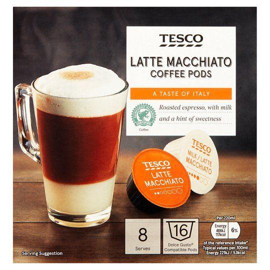 Tesco Dolce Gusto Latte Macchiato Pods X8 194g