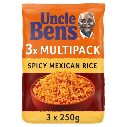 Uncle Bens Rice Spicy Mexican Multipack 3X250g