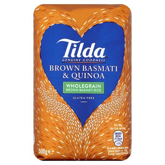 Tilda Brown Basmati Rice and Quinoa 500g
