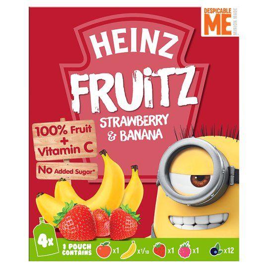 Heinz Strawberry and Banana Smoothie 4X100g
