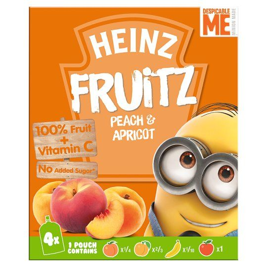 Heinz Peach and Apricot Smoothie 4X100g