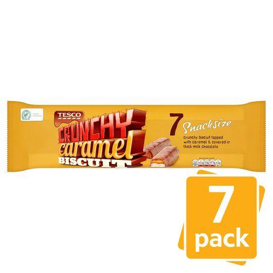 Tesco Crunchy Caramel Chocolate Bars 7 X42g