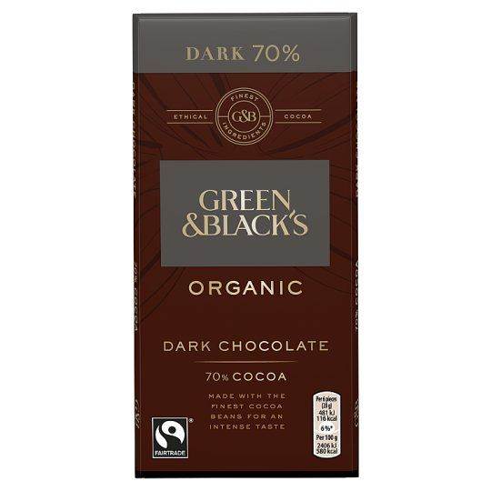 Green and Black's Organic 70% Dark Chocolate Bar 100g
