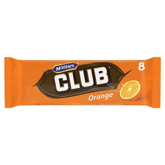 Mcvitie's Club Orange Chocolate Biscuit 8 Pack 176g