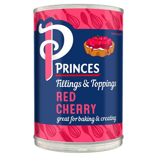 Princes Fillings & Toppings Red Cherry 410g