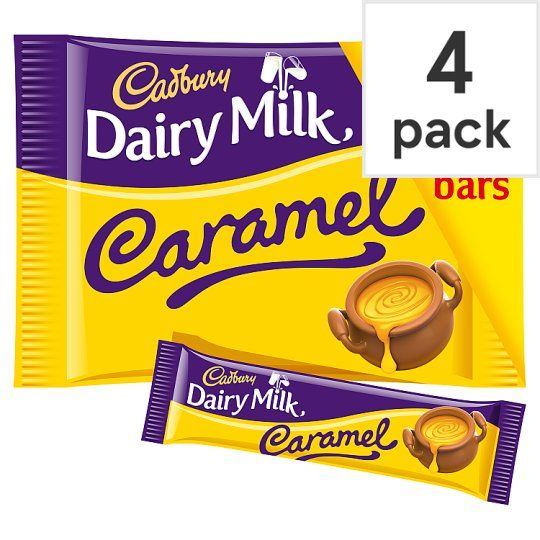 Cadbury Dairy Milk Caramel Chocolate Multipack 4 X37g