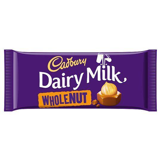 Cadbury Dairy Milk Whole Nut Chocolate Bar 120g