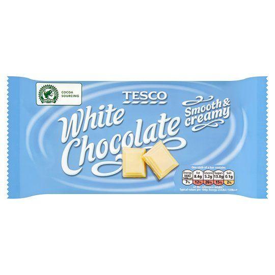Tesco Rainforest Alliance White Chocolate Bar 150g