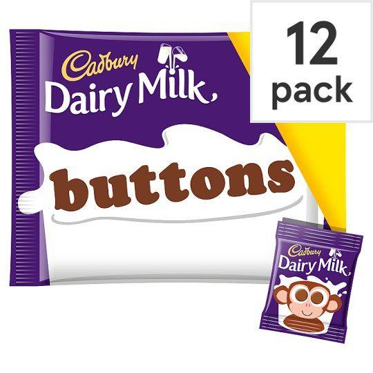 Cadbury Dairy Milk Buttons Chocolate Treat Size Minis 12 Pack 170g