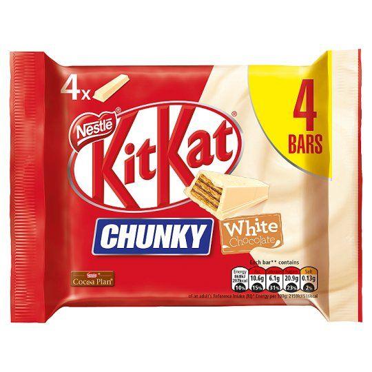 Kit Kat Chunky White 4 Pack 160g