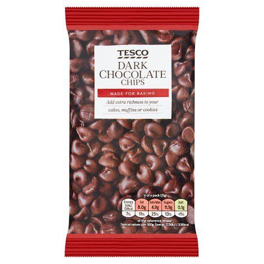 Tesco Dark Chocolate Chips 100g