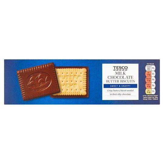 Tesco Milk Chocolate Butter Biscuits 125g
