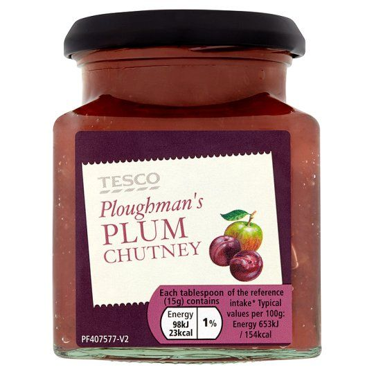 Tesco Ploughmans Plum Chutney 285g
