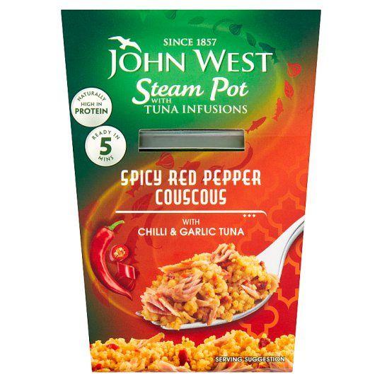 John West Steam Pot Tuna Infusions Garlic Chilli 150g