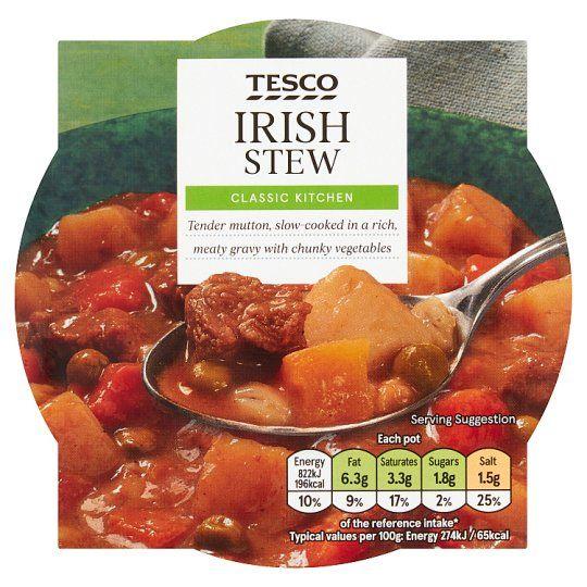 Tesco Irish Stew With Vegetable 300g