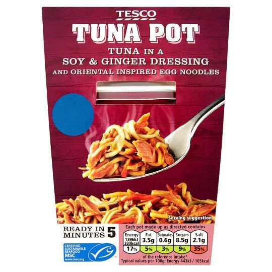 Tesco Tuna Pot Soy and Ginger Dressing With Noodles 140g