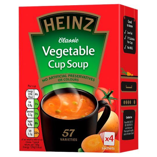 Heinz Vegetable Cup Soup 4 Pack 76g