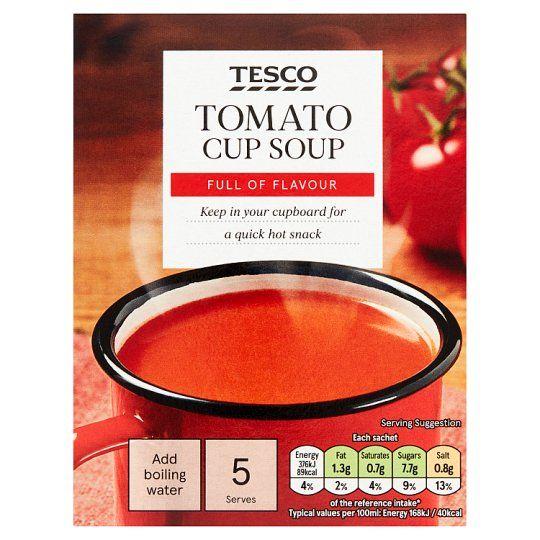 Tesco Tomato Soup In A Mug 5 Pack 120g