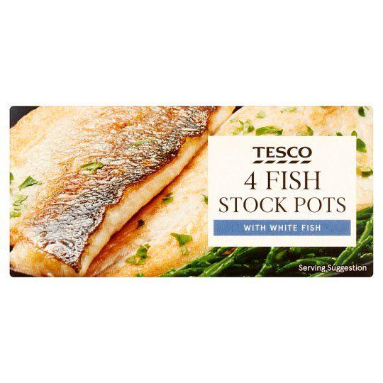 Tesco Fish Stockpot 4 Pack 112g