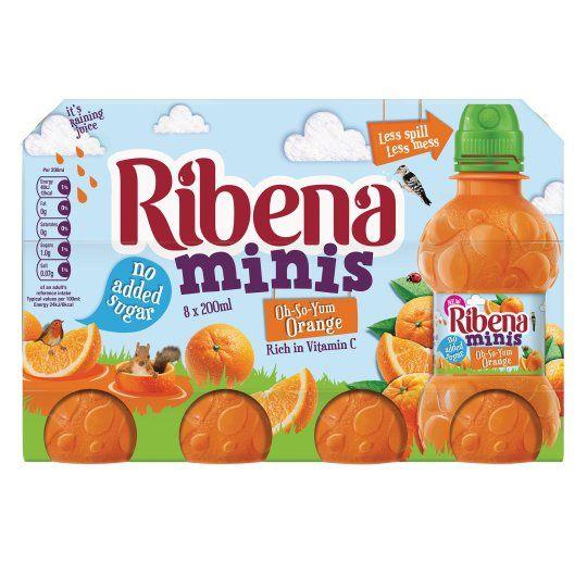 Ribena Mini Orange 8 X 200ml