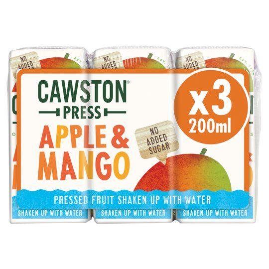 Cawston Press Kids Apple & Mango 3X200ml