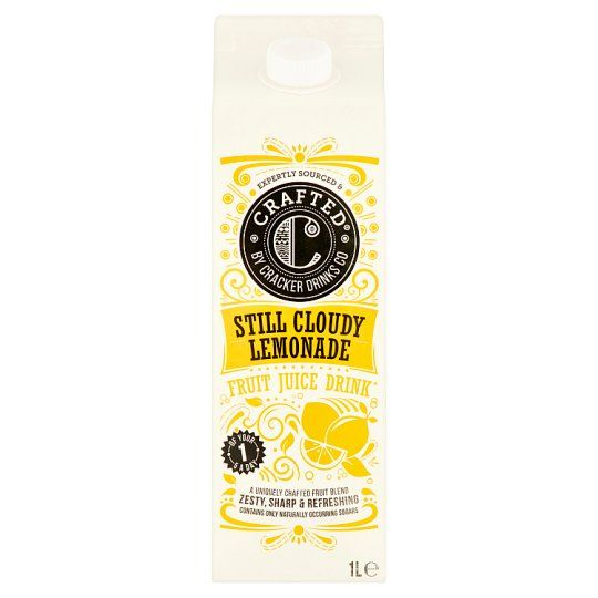 Crafted Still and Cloudy Lemonade No Added Sugar 1L